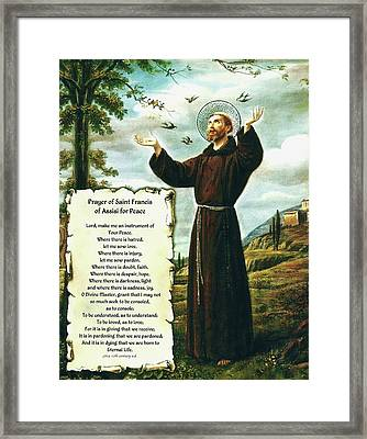 A Simple Prayer For Peace By St. Francis Of Assisi. From 15 17 To Paris Movie Framed Print