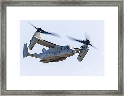 A U.s. Marine Corps V-22 Osprey Flies Framed Print by Rob Edgcumbe