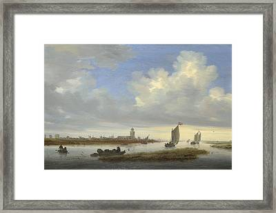 A View Of Deventer Seen From The North-west Framed Print