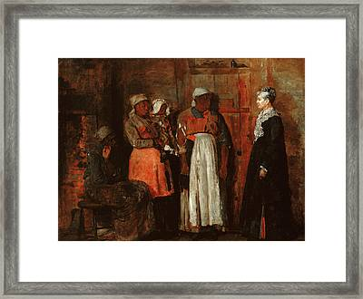 A Visit From The Old Mistress Framed Print by Winslow Homer