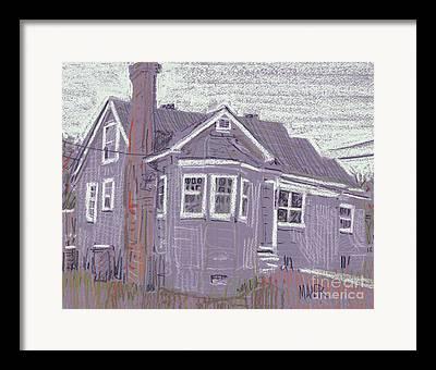 Abandoned Houses Drawings Framed Prints