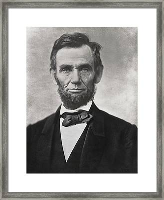 Abraham Lincoln - 16th U S President Framed Print by Daniel Hagerman