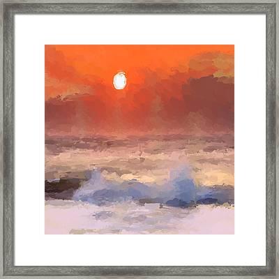 Abstract Beach Sunrise Framed Print