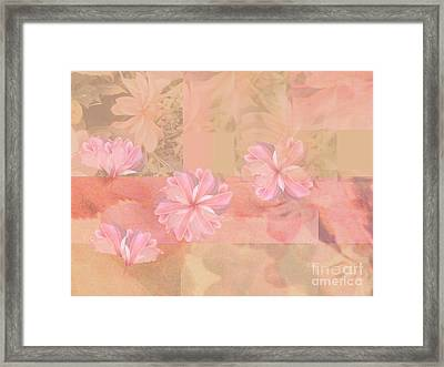 Abstract Collage Floral Framed Print