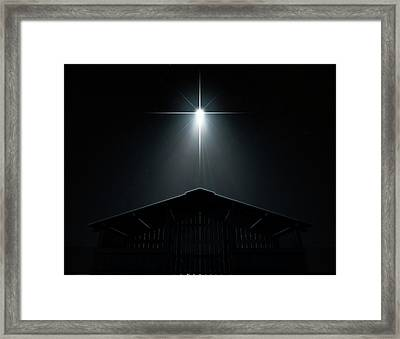 Abstract Nativity Scene Framed Print