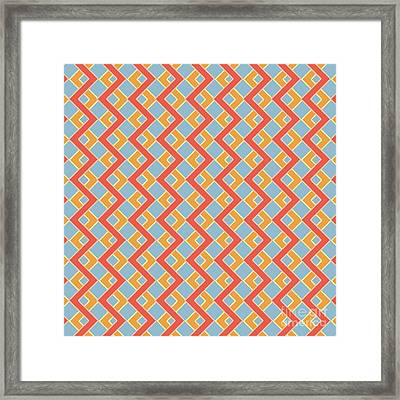 Abstract Orange, White And Red Pattern For Home Decoration Framed Print by Pablo Franchi