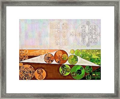 Abstract Painting - Brown Bramble Framed Print by Vitaliy Gladkiy