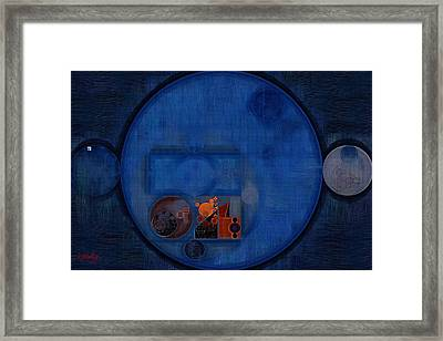 Abstract Painting - Dark Cerulean Framed Print