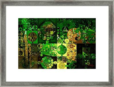 Framed Print featuring the digital art Abstract Painting - Dell by Vitaliy Gladkiy