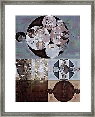 Abstract Painting - French Grey Framed Print by Vitaliy Gladkiy