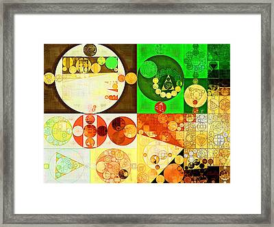 Abstract Painting - Kelly Green Framed Print