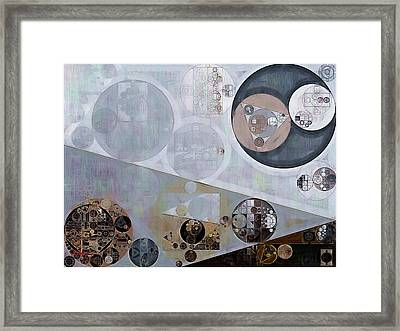 Abstract Painting - Lavender Gray Framed Print