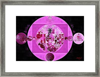 Framed Print featuring the digital art Abstract Painting - Lavender Magenta by Vitaliy Gladkiy