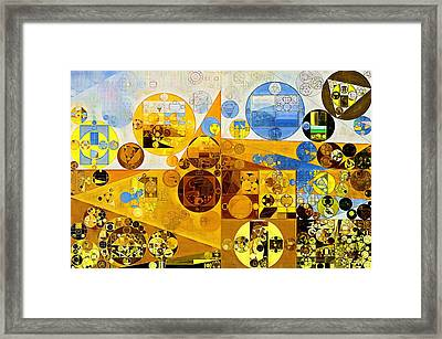 Abstract Painting - Morocco Brown Framed Print