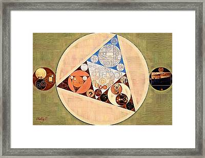 Abstract Painting - Muesli Framed Print