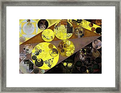 Abstract Painting - Onyx Framed Print