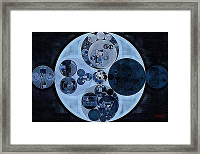 Framed Print featuring the digital art Abstract Painting - Polo Blue by Vitaliy Gladkiy