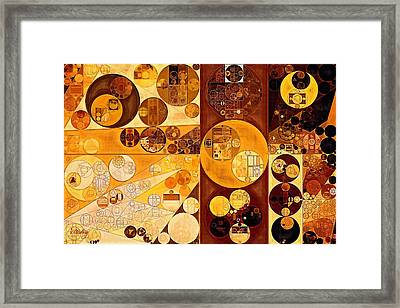 Abstract Painting - Red Oxide Framed Print by Vitaliy Gladkiy