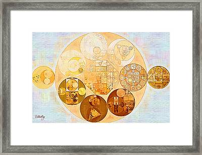 Abstract Painting - Rich Gold Framed Print by Vitaliy Gladkiy