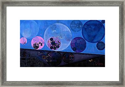 Framed Print featuring the digital art Abstract Painting - Saint Patrick Blue by Vitaliy Gladkiy