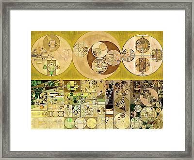 Abstract Painting - Sandwisp Framed Print