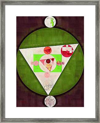 Abstract Painting - Sap Green Framed Print