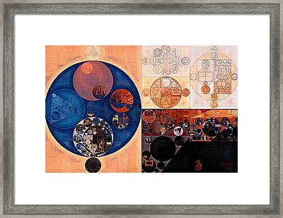Abstract Painting - Sepia Framed Print by Vitaliy Gladkiy