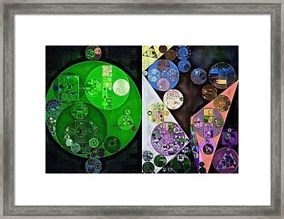 Abstract Painting - Swirl Framed Print by Vitaliy Gladkiy