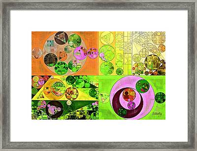 Framed Print featuring the digital art Abstract Painting - Turtle Green by Vitaliy Gladkiy