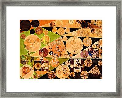 Abstract Painting - Zinnwaldite Brown Framed Print