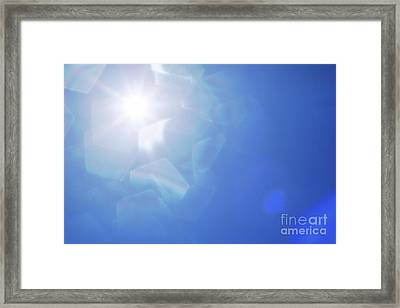 Abstract Sunlight Framed Print by Atiketta Sangasaeng