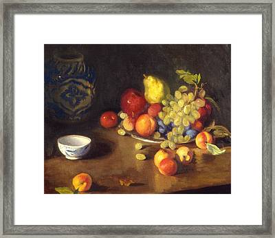 Abundance Of Fruit Framed Print by David Olander