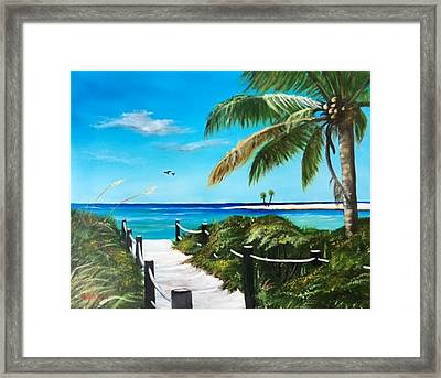 Access To The Beach Framed Print