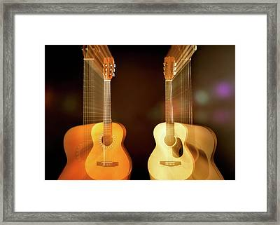 Acoustic Overtone Framed Print by Leland D Howard