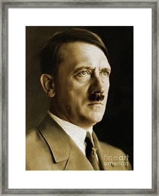 Adolf Hitler, Leaders Of Wwii Series.  Framed Print