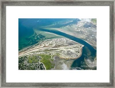 Aerial Vew Of Sandy Neck Beach In Barnstable On Cape Cod Massac Framed Print