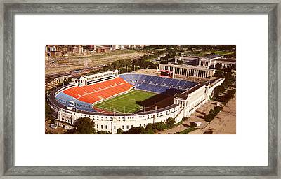 Aerial View Of A Stadium, Soldier Framed Print by Panoramic Images