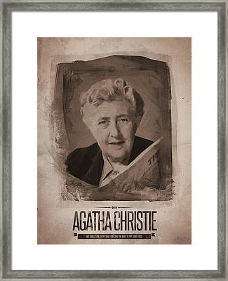 Agatha Christie 03 Framed Print by Afterdarkness