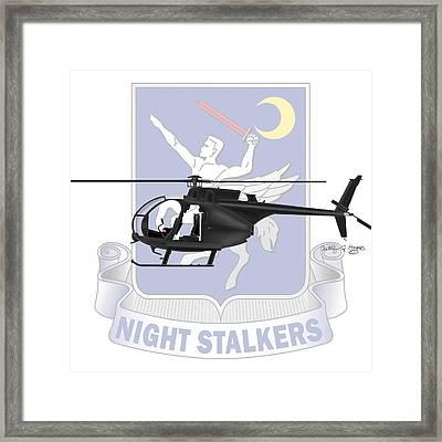 Ah-6j Little Bird Night Stalkers Framed Print by Arthur Eggers