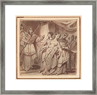Ahasuerus And Esther Framed Print