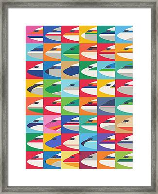 Airline Livery - Pattern Framed Print