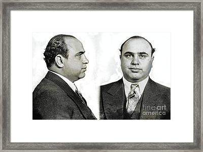 Al Capone Mugshot Framed Print by Jon Neidert