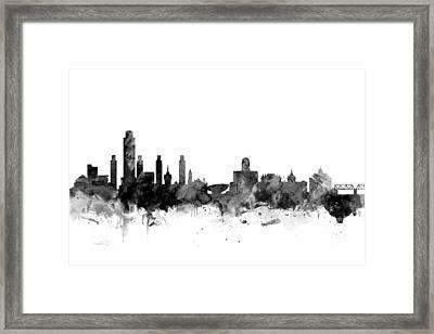 Albany New York Skyline Framed Print
