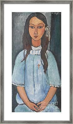 Alice Framed Print by Amedeo Modigliani