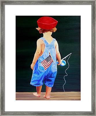 All American Boy Framed Print