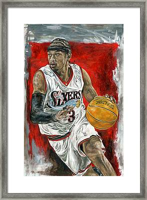 Allen Iverson Framed Print by David Courson