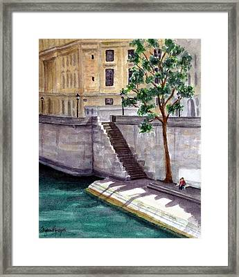 Along The Seine Framed Print