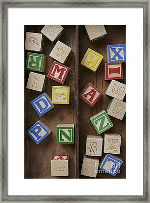 Alphabet Blocks Framed Print by Edward Fielding