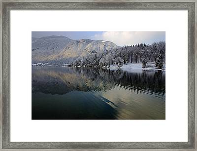 Alpine Winter Reflections Framed Print