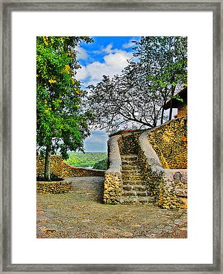 Altos De Chavon Texture. Republica Dominicana. Framed Print
